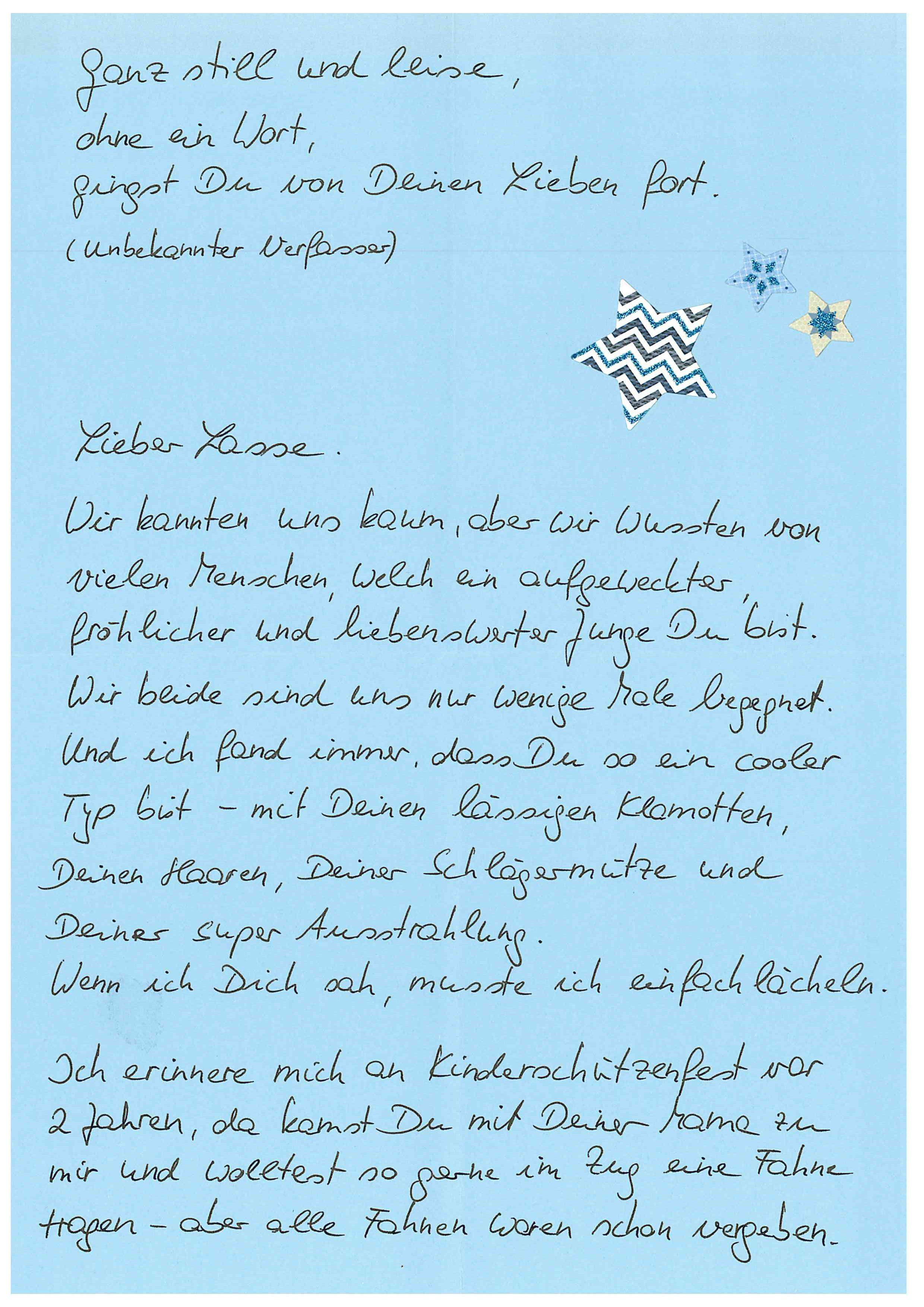 Brief schreiben an beste freundin